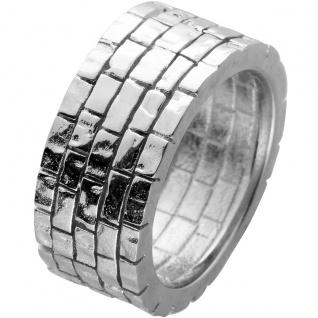 Designer Ring Toyo Yamamoto Edelstahl mit strukturierter Oberfläche