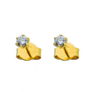 Brillant Ohrringe Solitär Ohrstecker Diamant Gelbgold 585 0, 25 Carat