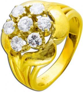 Antiker Brillantring Gold Gelbgold 585 Diamanten 0, 87ct TW / VVSI