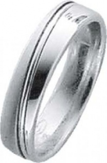 Trauring in Weißgold 750/-, Breite 5, 0mm, Stärke 1, 7mm, der Ring ist