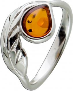 Ring Silber 925/- mit Cognac Bernstein 17-20mm