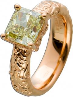 Solitär Ring Tattoo Rosegold 750 Diamant Radiant NFBGY /VS2 2, 20ct