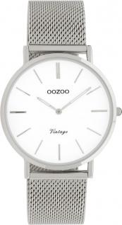 OOZOO Uhren C9902 Silber Edelstahl Milanaise Armband Metallgehäuse