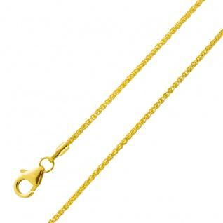 Zopfkette Goldkette Halskette Gelbgold 333 Stärke 1, 3mm Damen Herren