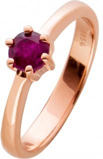 Rubin Solitär Ring rot leuchtenden Rubin 0, 91 Carat Rosegold 585