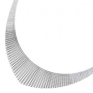 Kleopatra Collier Halskette Silber 925 44cm Statement Collier