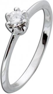 Solitärring Weißgold 585 Brillant Diamant 0, 15ct W/SI Verlobungsring