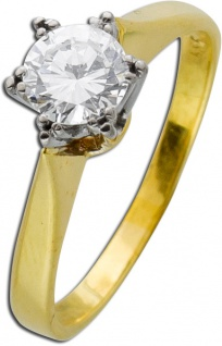 Brillant Ring Solitärring Gelbgold Weißgold 585 Brillant 0, 70ct