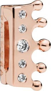 PANDORA SALE REFLEXIONS Clip Charm 787599CZ Crown Krone ROSE Metall