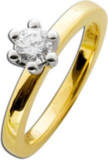Verlobungsring Diamant Ring Gold 585 Brillant 0, 50ct W/SI Solitär
