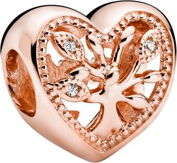 Pandora People Charm 788826C01 Openwork Family Tree Heart Rose Klare