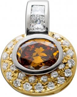 Exclusiver Anhänger Brillant 1, 55-1, 60 Diamant Gold750 Diamant