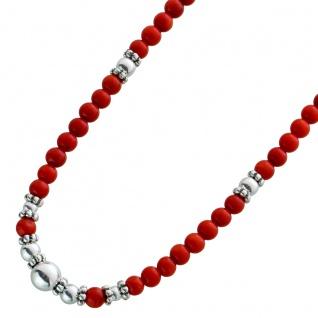 Korallenkette rot Sterling Silber 925