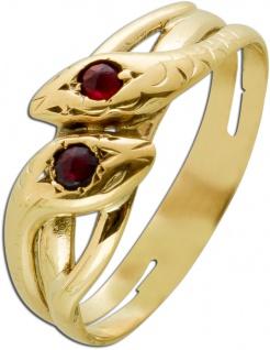 Antiker Rubin Ring Gelbgold 333 Roter Edelstein Um 1900 Guter Zustand