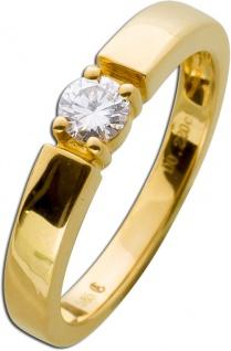 Verlobungsring Vorsteckring Diamant Brillant Gelbgold 585 Solitär