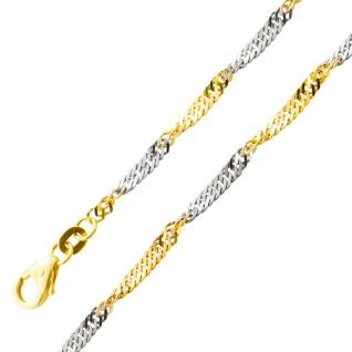 Singapurkette Armband Gold Gelbgold Weißgold 585 2, 5mm Breit massiv