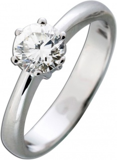 Massiver Verlobungsring IGI zertifizierter Diamant 0, 89ct TW Farbe G /