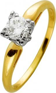 Brillantring Gelbgold Weissgold 585 Brillant 0, 50ct Crystal / VVS