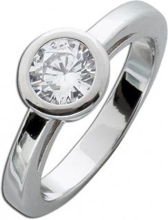Silber Zirkoniaring weiß Sterling Silber 925