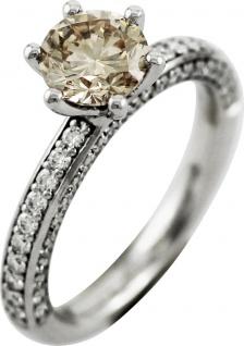 Solitär Ring Brillanten 2, 08ct Weissgold 750 by Saskia Dattner