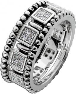 Ring Set 3 teilig weißen Zirkonia Silber 925 teils geschwärzt