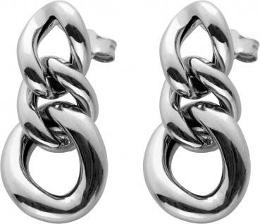 Bewegliche Ohrstecker Silber 925 Ohrhänger Kettengliedern halbmassiv