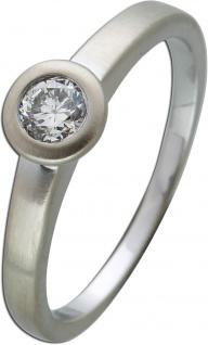 Brillantring Diamantring Solitaer Platin 950 Diamant Brillant 0, 30