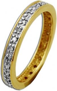 Memoire Ring Gelbgold 585 Diamant Brillant 0, 16ct W/P - Vorschau