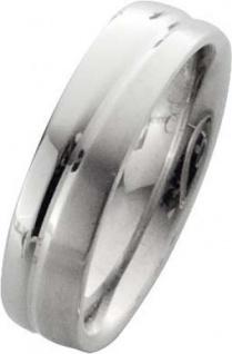 Trauring in Weißgold 14k 585/-, Breite 6, 0mm, Stärke 2, 1mm der Ring