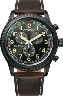 Citizen Herrenuhr Chronograph AT2465-18E Eco Drive schwarzes