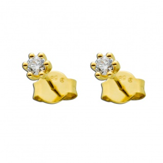 Diamant Ohrringe Gold 585 Brillant Ohrstecker 0, 20ct W/SI Ohrschmuck