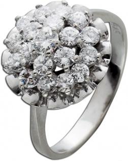 Antiker Ring weißen Brillanten Weissgold 585/- Brillanten 1, 30 70er