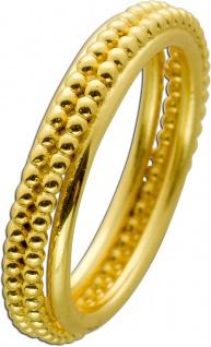 T-Y Ring Edelstahl vergoldet 2-reihige Noppen Toyo Yamamoto 17-20mm