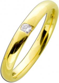 Brillantring Gelbgold 585 poliert - Brillant 0, 05ct W/SI Vorsteckring