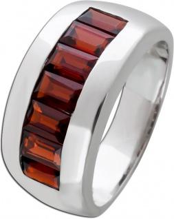 Silberring Edelstein rot Ring Silber 925 Granat Memoire