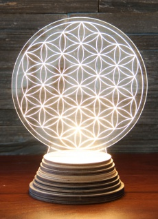 LED Lebensblume Ambientelicht Berk EN-137 mit Holzsockel