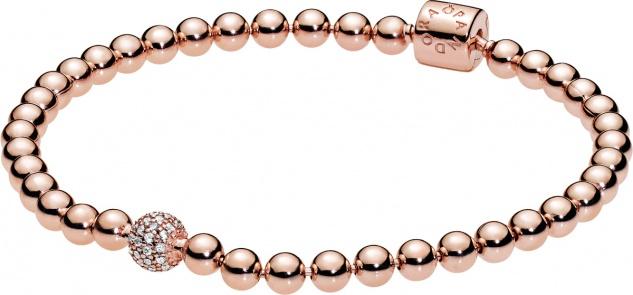 PANDORA Armband 588342CZ Beads Pave ROSE Metall Zirkonia