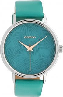 OOZOO Uhren C10080 Damenuhr Türkis Lederarmband 42mm