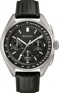 Bulova Herrenuhr 96B251 Lunar Pilot Chronograph Edelstahl Lederband