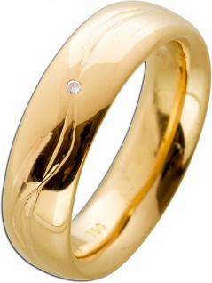 Diamant Solitär Ring Rosegold 750 Diamant feinste massive Designer