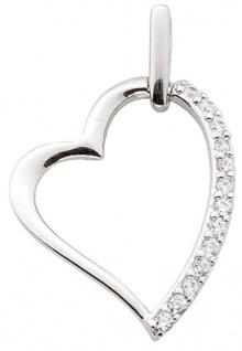 Herz Anhänger Sterling Silber 925 Zirkonia Damenschmuck