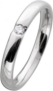 Brillantring Weißgold 585 poliert 1 Diamant 0, 05ct W/SI Brillant