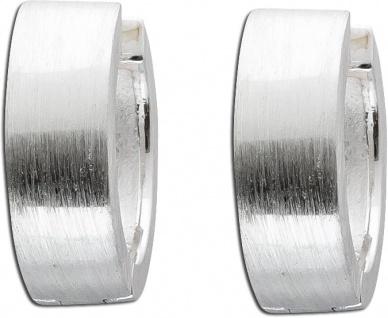 Klappcreolen Creolen Silbercreolen Silberohrringe Sterling Silber 925