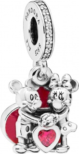 PANDORA DISNEY 797769CZR Charm Anhänger Minnie Mickey with Love
