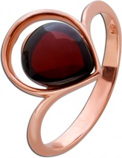 Edelstein Ring Silber 925 rose vergoldet Cherry Bernstein