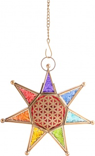 Chakra Stern Esoterik Berk L-01 Orientalisches Licht mit Kette zum