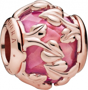 PANDORA Charm Rose 788238SSP Pink Decorative Leaves