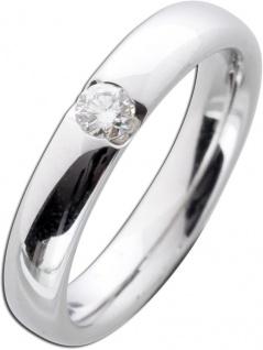 Verlobungsring Weißgold 585 Brillant Ring 0, 15ct W/SI Diamant Gold