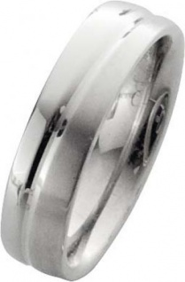 Trauring in Weißgold 18k 750/-, Breite 6, 0mm, Stärke 2, 1mm der Ring