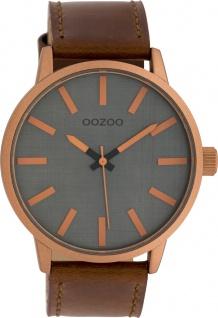 OOZOO Uhren C10033 Unisex Lederband braun 45mm